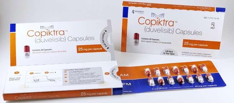 Duvelisib is an oral dual inhibitor of phosphoinositide 3-kinase (PI3K)-delta and PI3K-gamma