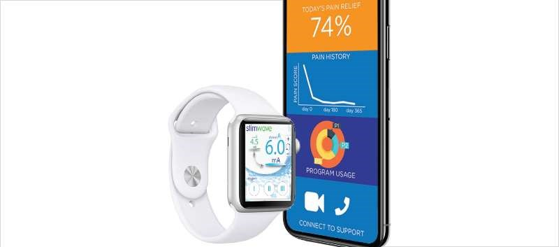 WaveCrest Mobile allows a patient to use an iPhone, iPod touch, or Apple Watch to adjust their pain relief therapy