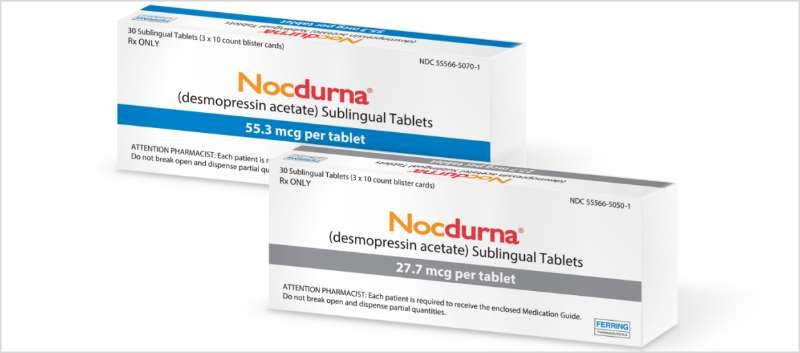 Nocdurna has specific sex-based dosing