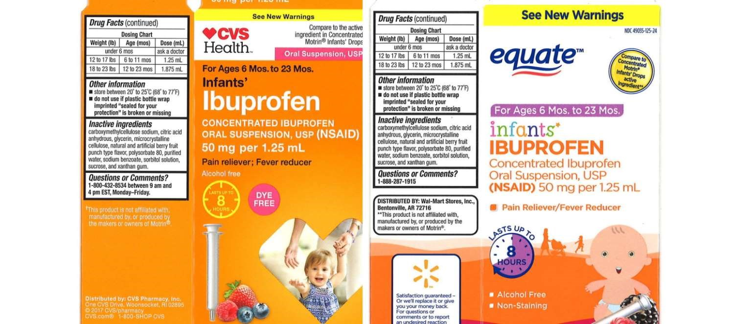 More Ibuprofen Oral Susp Lots Recalled Due to Higher Concentration